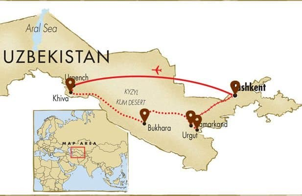 The 10 day journey takes guests across a good majority of the Uzbek country.