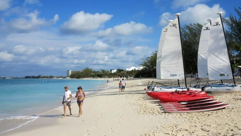 Seven Mile Beach is a star attraction of Grand Cayman island in the Caribbean. Tab Hauser photos.