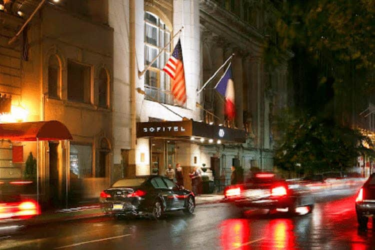 The Sofitel New York, a luxury hotel in the heart of the city.