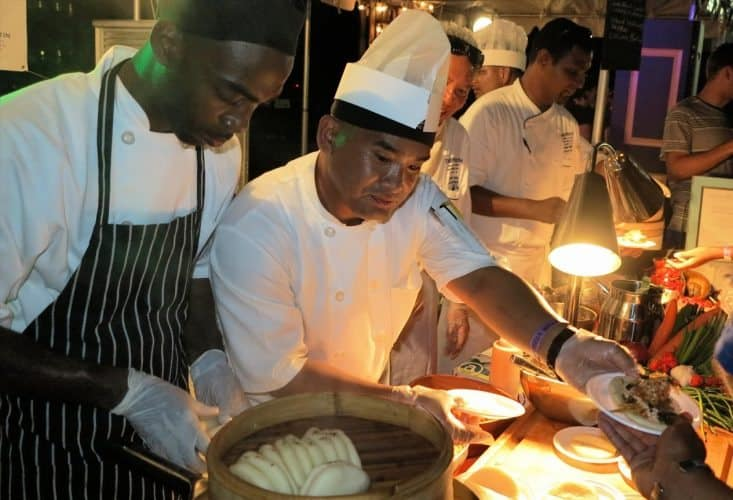 At the Taste of Cayman, chefs prepare local delicacies and it's a great deal for just $40 per person.