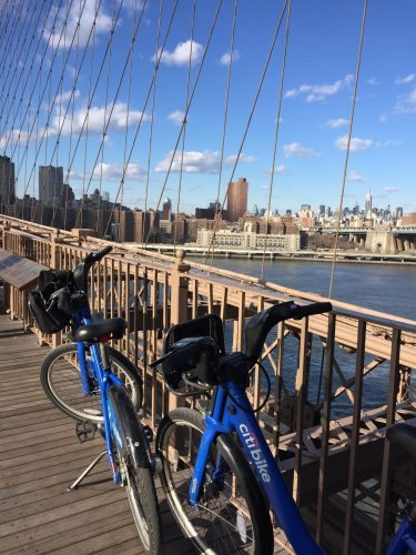 "The ""My City Bike"" tour offers stunning views of the Manhattan skyline."