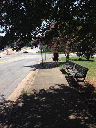 A street in the Church Hill district of Richmond, Virginia.