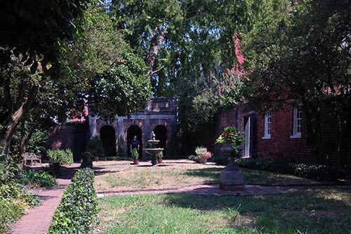 The Enchanted Garden at the Poe Museum in Richmond, Virginia.