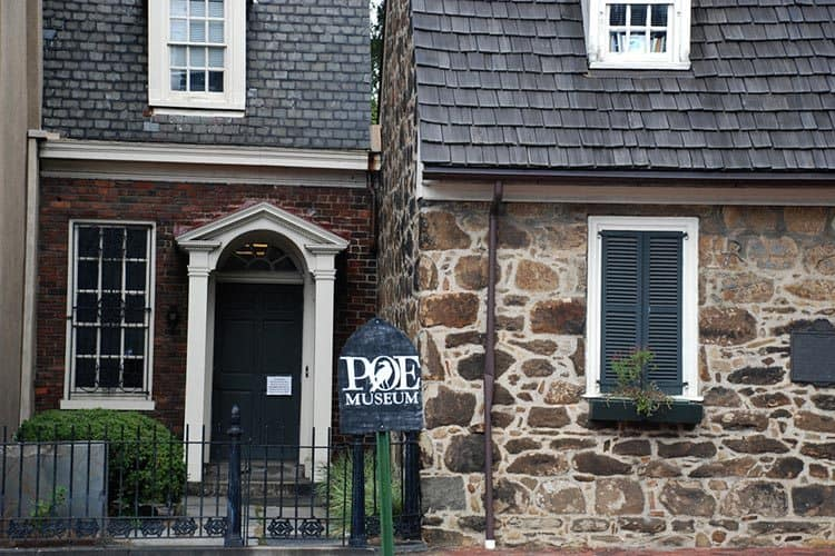 The entrance of the Old Stone House, home to the Poe Museum.
