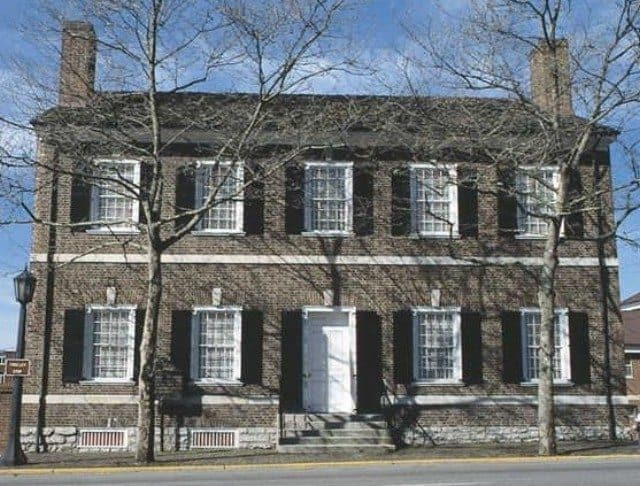 The exterior of the President Abraham Lincoln's wife Mary Todd Lincoln's house in Lexington, Kentucky.
