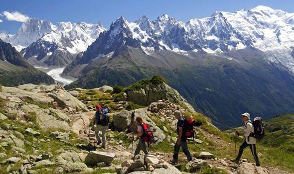 Trekking through the French Alps is an extensive and long feat with stunning views.
