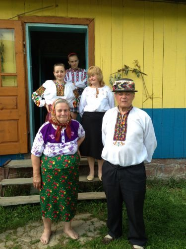 Being welcomed into the home of hospitable locals in Ukraine.
