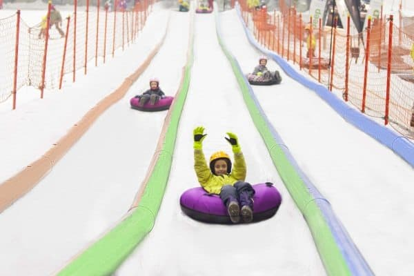 Tubing at the Madrid SnowZone.