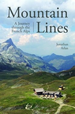 The book cover shows just one of the French Alps' beautiful picturesque scenes.