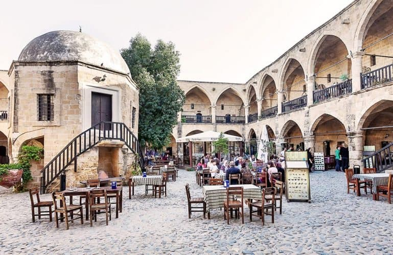 The walled city of Nicosia is home to countless cafes and souvenir shops.