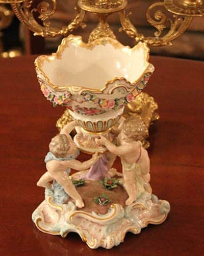 The original Meissen porcelain at the Mary Todd Lincoln House in Lexington Kentucky.