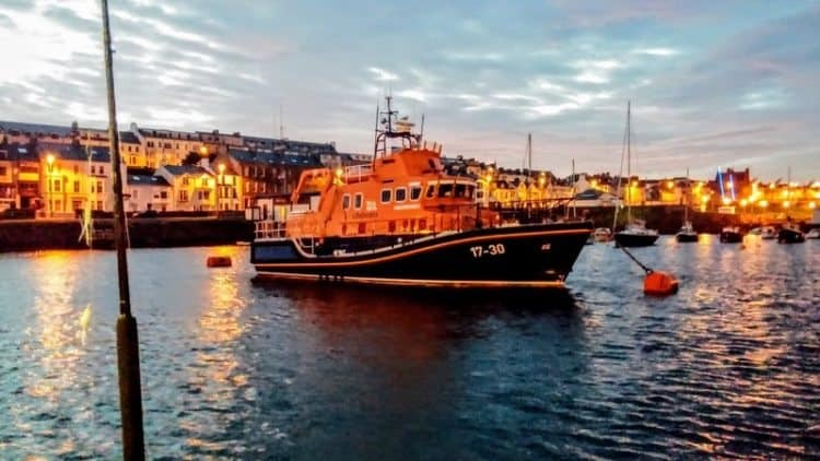 Portrush at twilight as we sneak out for a sunrise boat excursion.