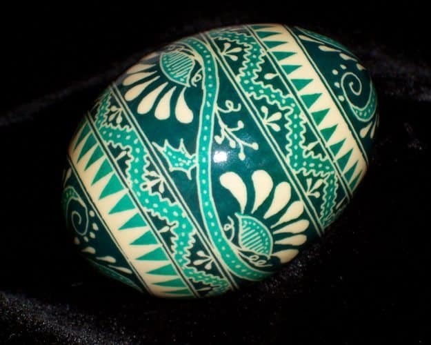 A pysanka, or Easter egg.