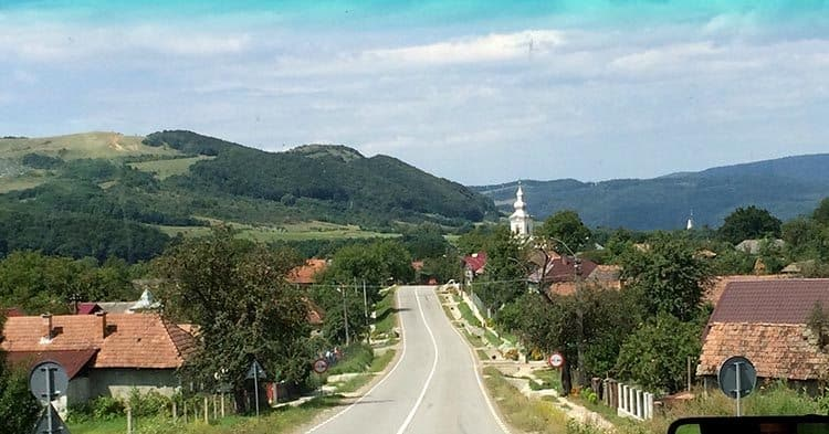 A scenic road in the countryside of Romania.  Becky Edwards photo.