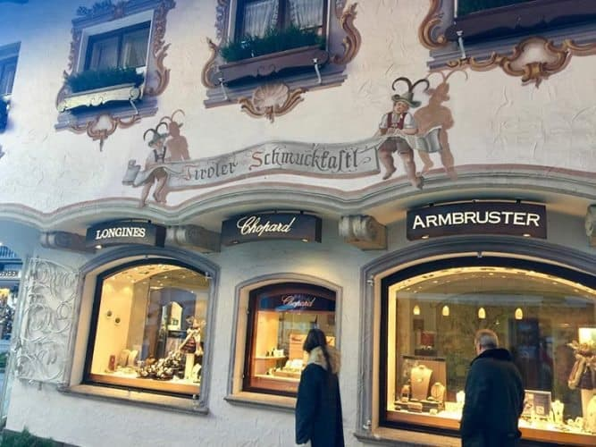 Shopping in Seefeld, with the top designer names.