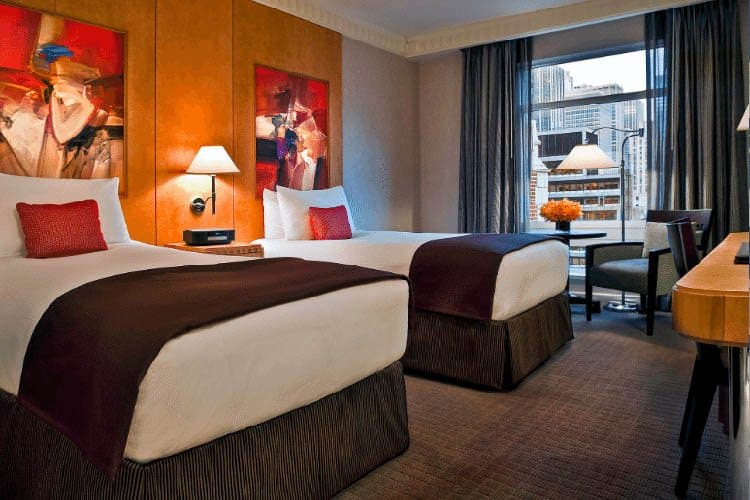 A luxurious room at the Sofitel New York.