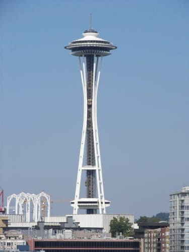 Seattle's famous Space Needle, the mark of the city.