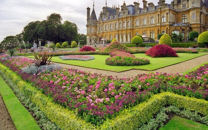 Waddesdon Manor Gardens, National Trust, Buckinghamshire, UK