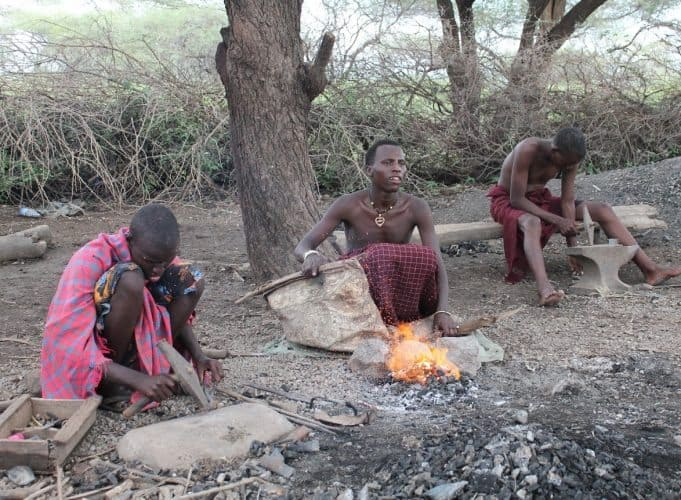 Barbaig blacksmiths in Tanzania create beautiful works of art from scrap metal. James Dorsey photos.