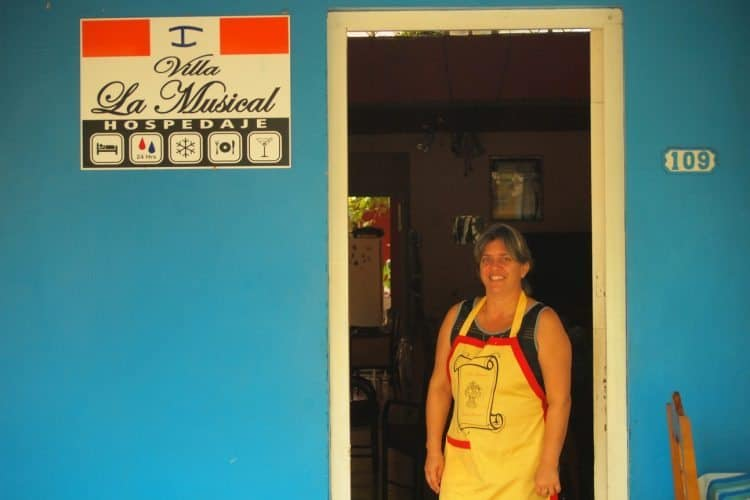 Casa owner Dayanette makes tourists feel at home in Vinales, Cuba