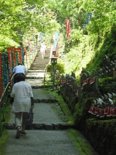 The ascent into Iwaya-ji, 45 in Japan.