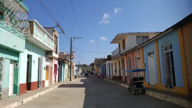 A typical Cuban street.