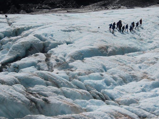 The Franz Josef Glacier on New Zealand's South Island.