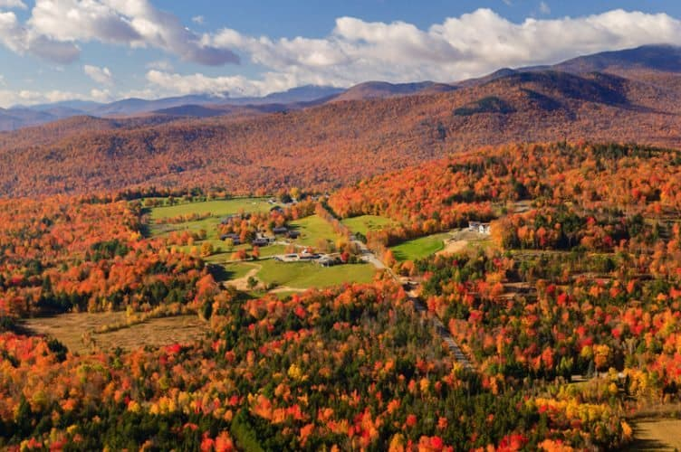 The fall foliage in Vermont is a sight every person should see at least once in their life.