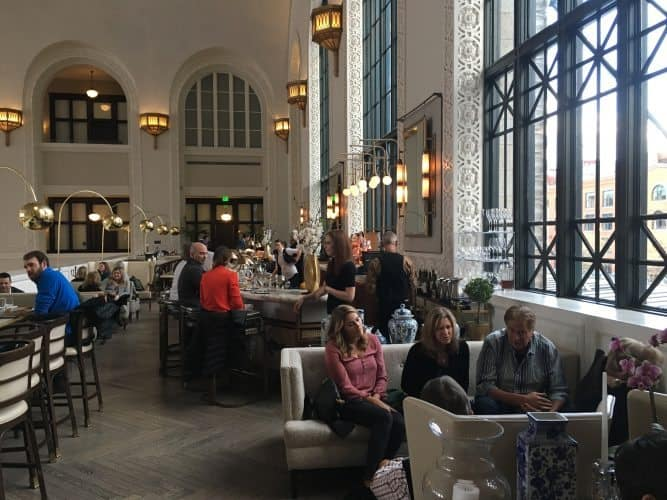 Up on the second floor overlooking busy Union Station is Coopers, where upscale cocktails can be found.