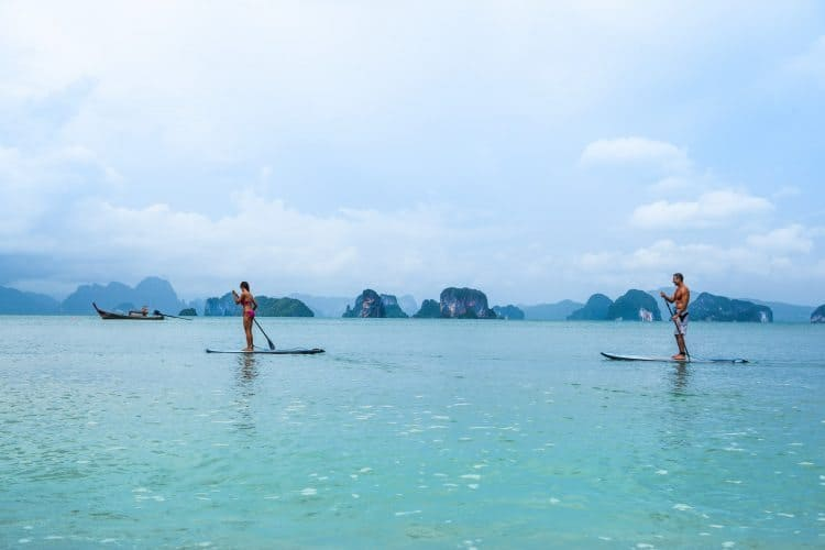 SwellWomen in Thailand offers other activities besides surfing like stand up paddle boarding.