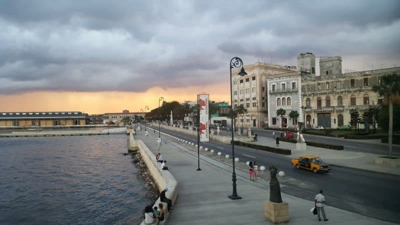 Havana's Malecon, the waterfront strolling boulevard.