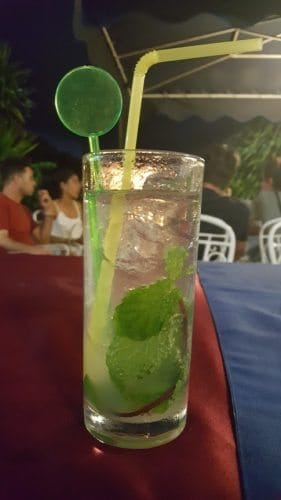 Mojitos are as cheap as water and the best thing to drink on a hot day or night in the country.