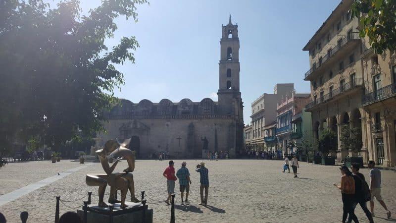 Plaza de San Francisco, Havana, Cuba.