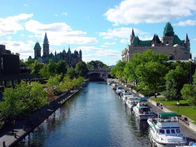 The Rideau Canal boasts incredible views all along its route, from Ottawa to Kingston.