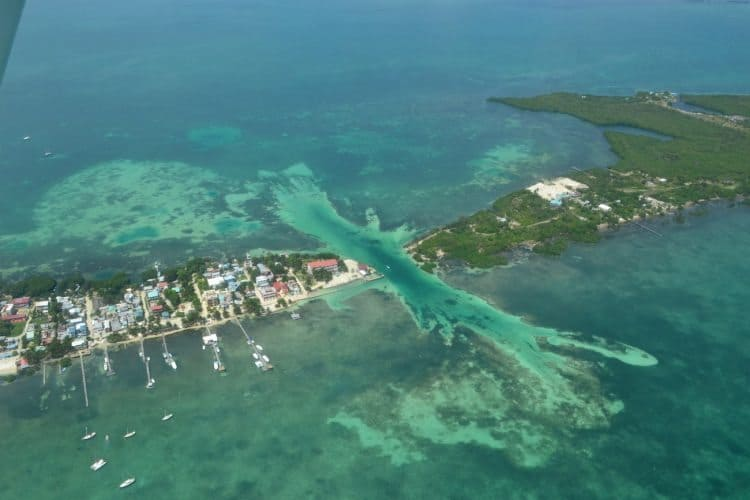 The Split in Caye Caulker, Belize, a popular tourist attraction. San Pedro Scoop photo.