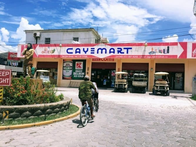 You won't see many if any familiar chains in San Pedro - Caye Mart