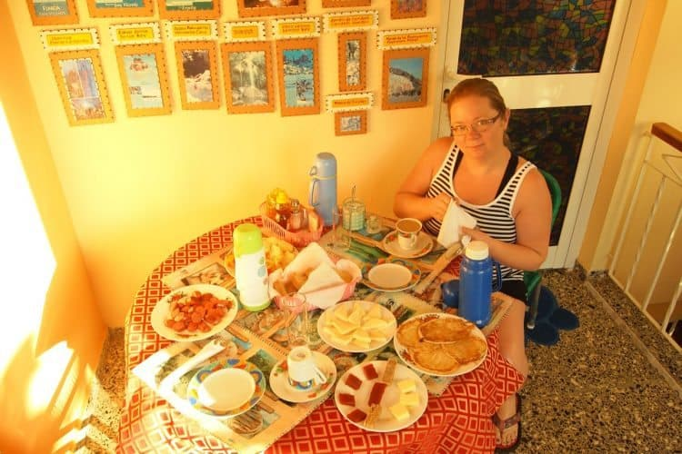 The big breakfast at the Casa Particulare in Vinales.
