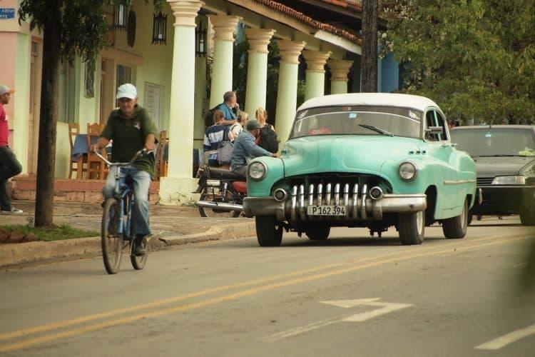 A street scene in rural Cuba.