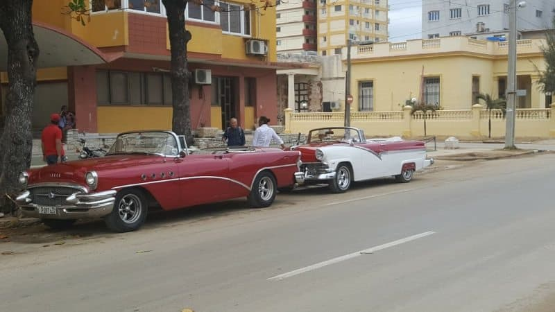 The classic cars that are such a symbol of Cuba are mostly used for taxis for tourists.