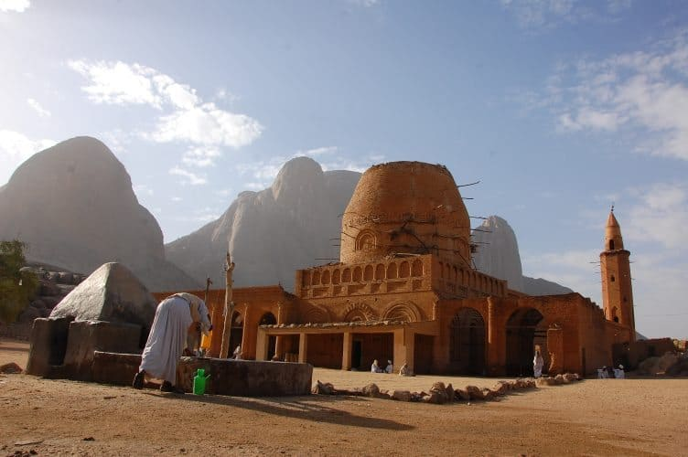 Kassala, the mosque and the mountains, in Sudan, Africa.
