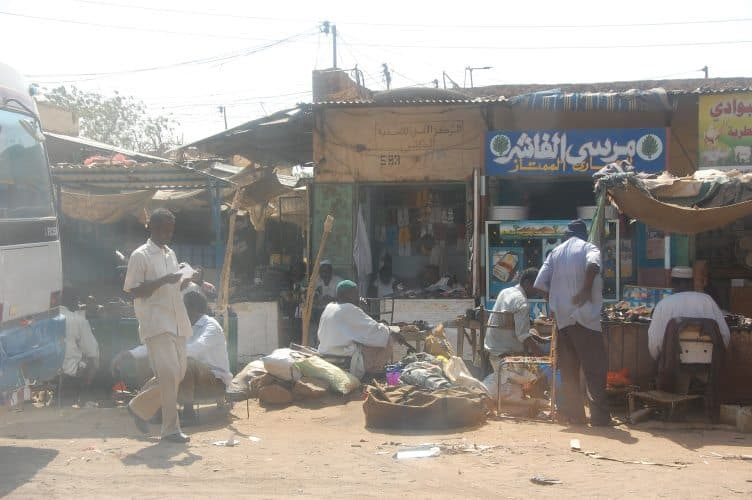 A market in Sudan.