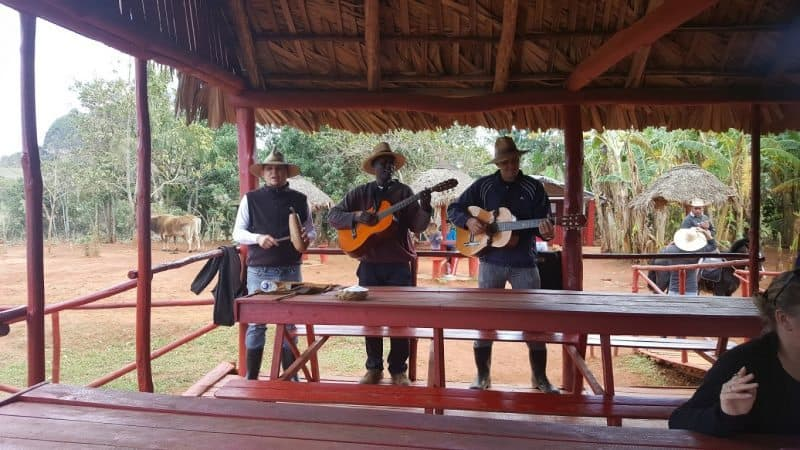 Musicians in Vinales, a rural part of the country about two hours from Havana.