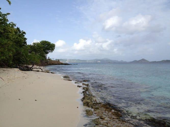 Honeymoon Beach-snorkeling the reef around the rocky point is superb!