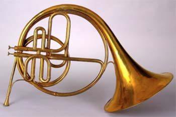 Orchestral horn, circa 1845