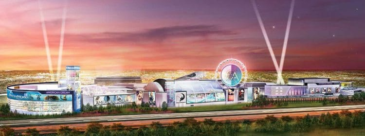 American Dream Meadowlands megaplex opening in 2018 in East Rutherford, New Jersey.