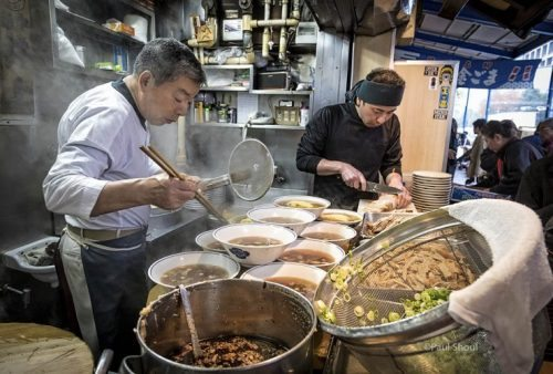 Ramen stall at the Tsukiji Fish Market