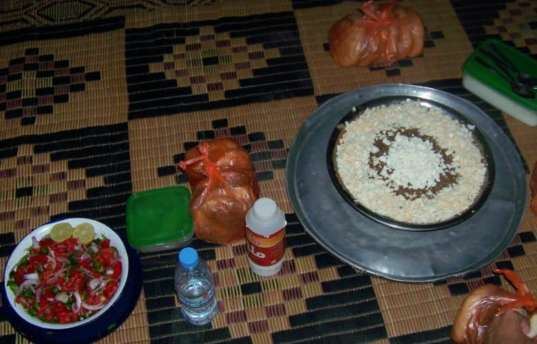 A Sudanese meal of foul, beans often eaten for breakfast with bread.
