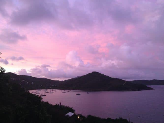 Sunset at Coral Bay.St John Virgin islands