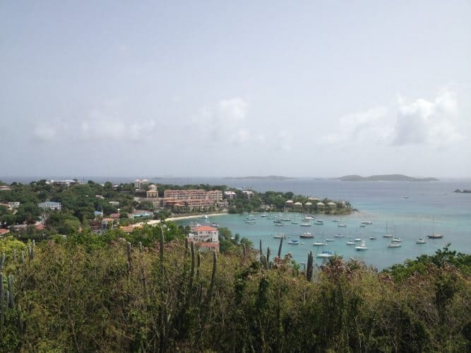 Coral Bay overlook. St John USVI