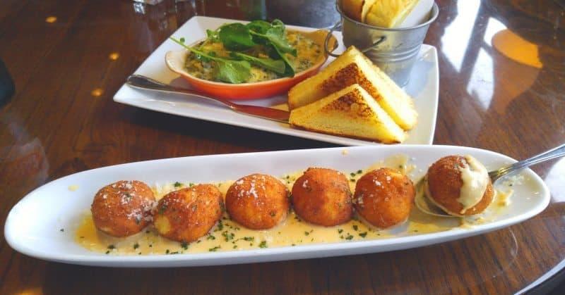 Appetizers at EastsideWestside, Fillmore, San Francisco.